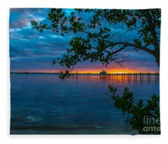 Overcast Sunrise Fleece Blanket