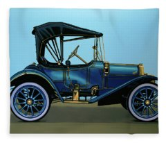 Overland 1911 Painting Fleece Blanket