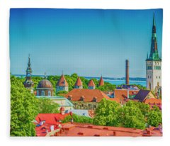 Overlooking Tallinn Fleece Blanket