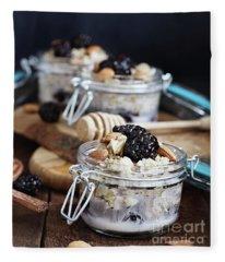 Overnight Oatmeal With Blackberries  Fleece Blanket