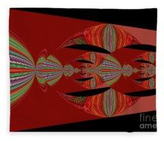 Red Abstract Ovs 26 Fleece Blanket