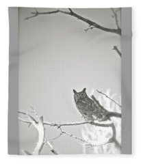 Owl Be Seeing You Fleece Blanket