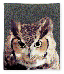 Owl By Patricia Griffin Fleece Blanket