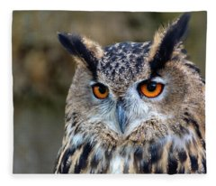 Owl Eyes Fleece Blanket