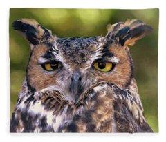 Owl Eyes Fleece Blanket