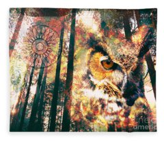 Owl Medicine 2015 Fleece Blanket