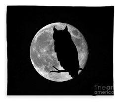 Owl Moon Fleece Blanket