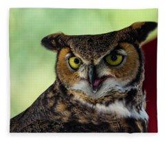 Owl Tongue Fleece Blanket