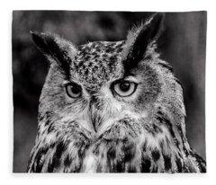 Owls Eyes  Fleece Blanket