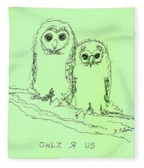 Owlz R Us Fleece Blanket