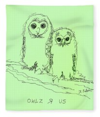 Owlz R Us Fleece Blanket