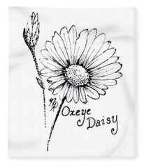 Oxeye Daisy Fleece Blanket