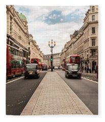 Oxford Street In London Fleece Blanket