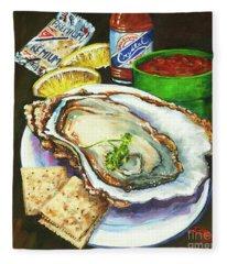 Oyster And Crystal Fleece Blanket