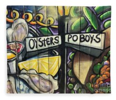 Oyster Poboys Fleece Blanket