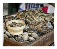 Oysters At The Market Fleece Blanket