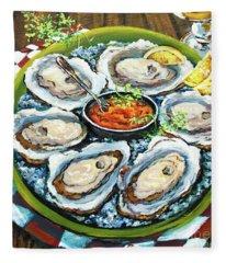 Oysters On The Half Shell Fleece Blanket