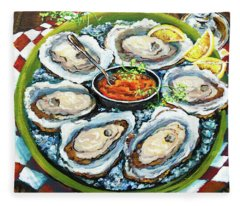 Oysters On The Half Shell Fleece Blanket