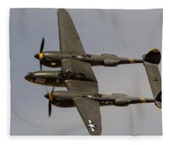 P-38 Skidoo Fleece Blanket