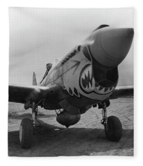 P-40 Warhawk - Flying Tiger Fleece Blanket