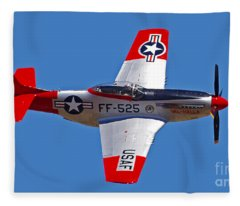 P-51d Mustang Flyby Fleece Blanket