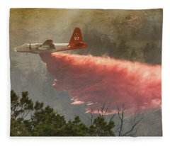 P2v Drops In Ferguson Canyon Fleece Blanket
