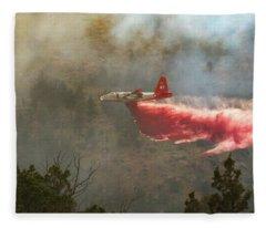 P2v In Ferguson Canyon Fleece Blanket