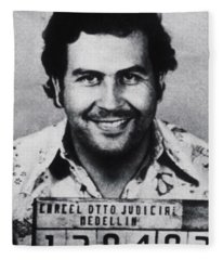Pablo Escobar Mug Shot 1991 Vertical Fleece Blanket