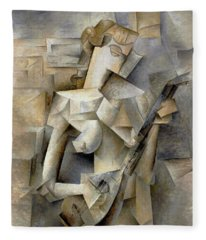 Pablo Picasso Girl With A Mandolin 1910 Fleece Blanket