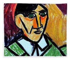 Pablo Picasso 1907 Self-portrait Remake Fleece Blanket