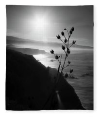 Pacific Coast B/w Fleece Blanket