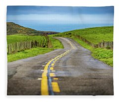 Pacific Coast Road To Tomales Bay Fleece Blanket