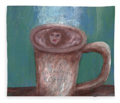 Pacific Northwest Coffee Fleece Blanket
