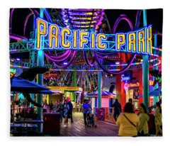 Pacific Park - On The Pier Fleece Blanket