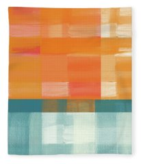 Pacific Sunset 2- Abstract Art By Linda Woods Fleece Blanket