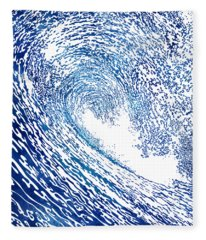 Pacific Waves Iv Fleece Blanket