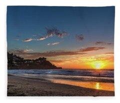 Pacifica Sunset Fleece Blanket