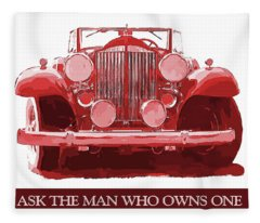 Packard Ask The Man Red Fleece Blanket