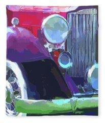 Packard Close Up Pop Fleece Blanket