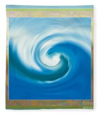 Pacswirl With Border Fleece Blanket
