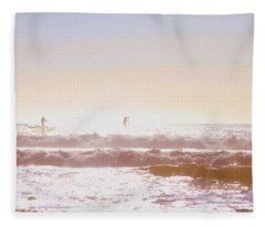 Paddleboarders Fleece Blanket