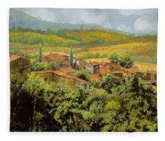 Paesaggio Toscano Fleece Blanket