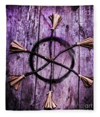 Pagan Or Witchcraft Symbol For A Gathering Fleece Blanket