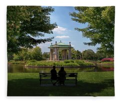 Pagoda Circle Interlude Fleece Blanket