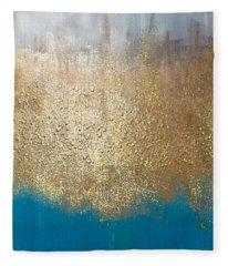 Paint The Sky Gold Fleece Blanket