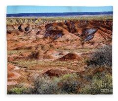 Painted Desert In Winter Fleece Blanket