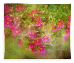 Painted Flowers Fleece Blanket