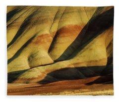 Painted In Gold Fleece Blanket