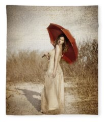 Painted Lady Fleece Blanket