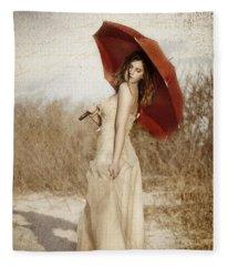 Painted Lady Narrow Fleece Blanket